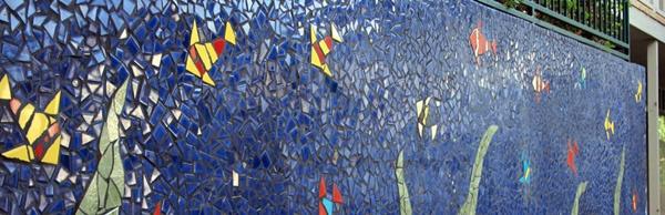 oceanwall mosaic by dan mueller, austin