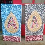Austin Beerworks tiled logo signs