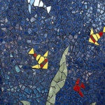 dan mueller mosaic landscape fish wall